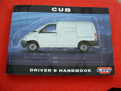 Ldv Cub Owners Handbook Manual Excellent Condition   Nissan Vanette