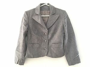 Details about Women\u0027s S M Tailor Made Gray Supreme Suit Jacket Blazer  Spellbound by Ricardo