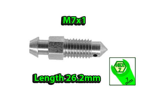 M7x1 HEX7 L26.2mm BLEEDER NIPPLE SCREW BRAKE CALIPER DRUM OR CLUTCH