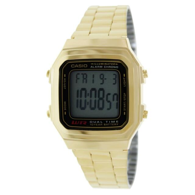 31e00b407 Casio A178wg-1a Unisex Mens Womens Watch Digital Gold Stainless Steel Alarm