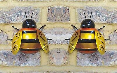 1 Large Metal Bumble Bee Summer Garden Decoration Ornament Wall Art