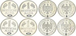 1DM 1978D, Para , G, J 4 Monedas Completo Pp 56845