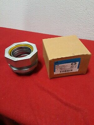 """Eaton LT300 3/"""" Straight Male Connector metal conduit fitting threaded"""