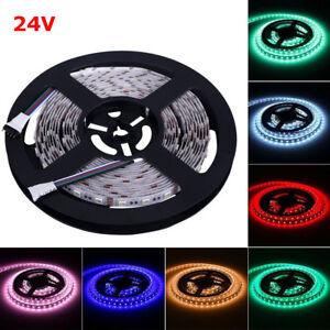 24V-5M-5050-SMD-RGBW-RGB-Warmweiss-4-in-1-LED-Streifen-LED-Strip-Stripes-Band