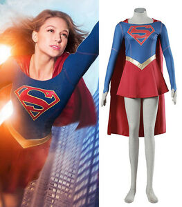 Details about Supergirl Adult Costume Kara Danvers Cosplay Dress Cloak  Superhero Outfit Skirt