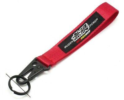 DOMO JDM AS FCK Red Wrist//Palm Racing Keychain Carabiner w// Black Hook