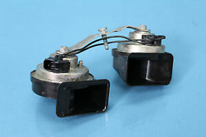 2008-CADILLAC-STS-3-6-7-PAIR-LEFT-RIGHT-LOW-HIGH-NOTE-TUNE-OEM-HORN