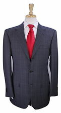 * ERMENEGILDO ZEGNA * Couture Very Recent Gray Plaid Check 3-Btn Wool Suit 40R