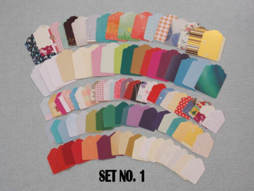 LABELS ETC PLAIN TAGS FOR CARDMAKING SCRAPBOOKING 100 NEW PATTERNED