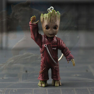 Neuf-Say-Hello-Little-Baby-Groot-Guardians-of-the-Galaxy-vol-2-Key-Ring-Figurine