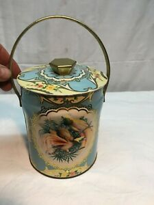 Spiced-Tea-Collectible-Tin-Murray-Allen-English-Tea-Canister-Floral-Pattern