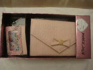 BETSEY-JOHNSON-BLUSH-PINK-TRI-FOLD-SNAP-WALLET-AND-CARD-CASE-SET-NEW-IN-BOX
