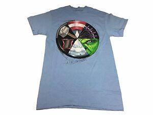 Marvel-Comics-Avengers-Logo-Wheel-Hulk-Thor-Captain-America-Men-039-s-T-Shirt