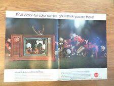 1967 RCA Victor Television TV Ad AFL Football Lexington