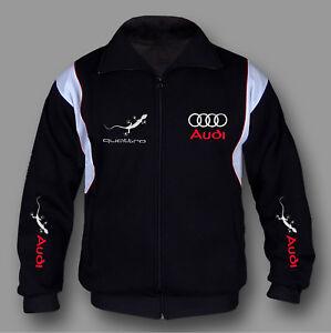 6xl con Quattro In Made S di Europe L Felpa cappuccio Ricamo Miscela Audi cotone M 6tfdnxTqw