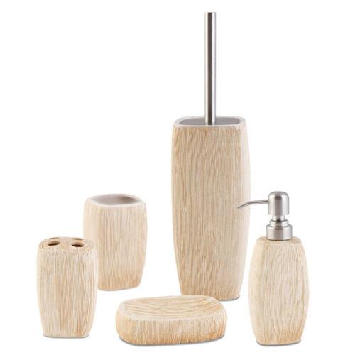 5-tlg céramique Badset-Distributeur de savon zahnputz gobelet wc-garniture de savon bol
