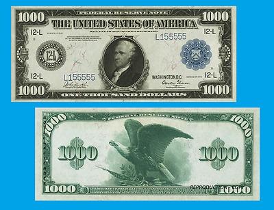 Reproduction USA 1000 DOLLARS 1863 UNC