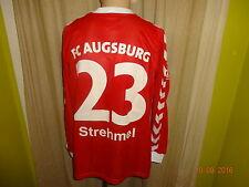 "FC Augsburg hummel Matchworn Trikot 2005/06 ""HUMBAUR"" + Nr.23 Strehmel Gr.L"