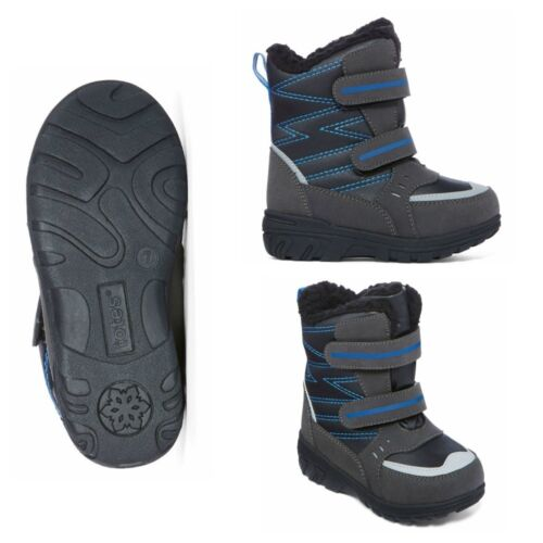 5 7 8 9 10 Black /& Blue Boy's Toddler Totes Toby Snow Boots New $60