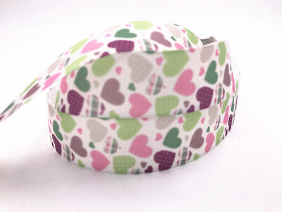 5 Yard 1/'/' Rainbow Animals Printed Grosgrain Ribbon Hair Bow Sewing Ribbon