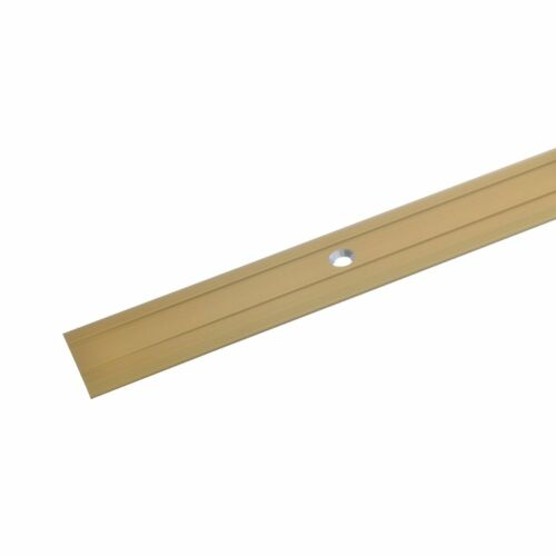 Transition Profil 100 cm Gold 24,5 x 1,25 mm percés Aluminium Tapis Rail