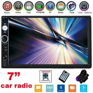 "Doppel 2 DIN 7"" HD Autoradio Bluetooth USB Car Stereo Touch MP3 Player + Kamera"
