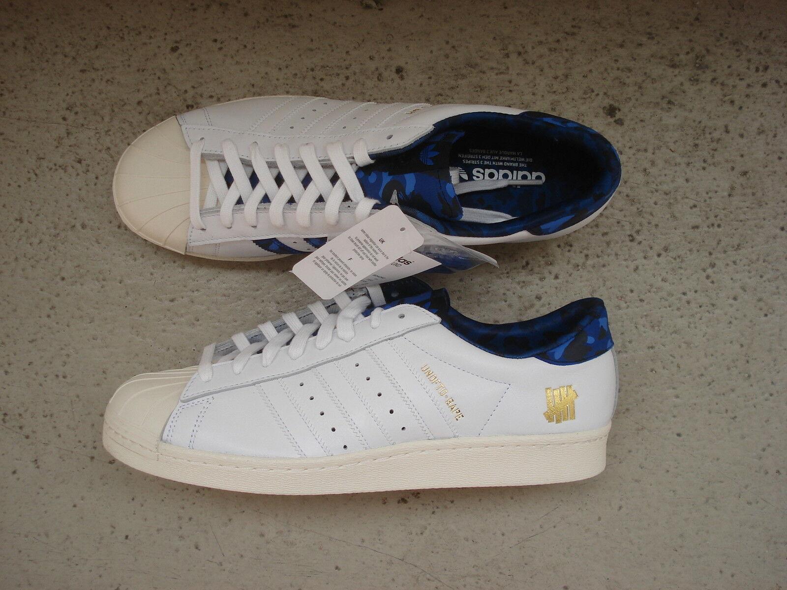 Adidas Superstar Consortium x Bape x undefeated 46 blanco blanco camo