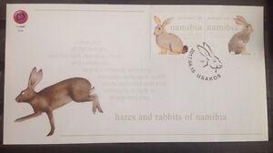 Namibie-Namibia-Postfris-MNH-FDC-Hares-and-Rabbits-2017