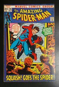 Amazing-Spider-Man-106-Marvel-Comic-1972-Squash-Goes-the-Spider