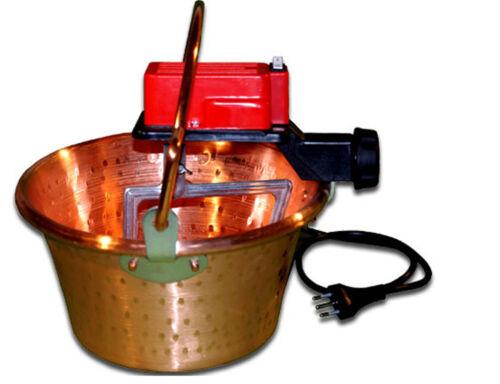 BOTTA CUOCA AUTOMATICA PAIOLO RAME POLENTA 26 cm 4 litri 5 W ART.07 NUOVAFAC