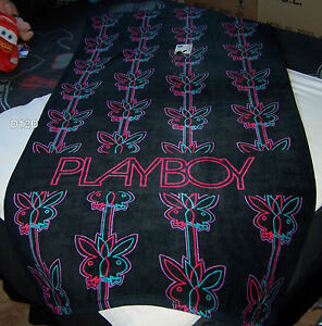 Playboy-Bunny-Logo-Black-Neon-Jumbo-90cm-x-180cm-Printed-Velour-Beach-Towel-New