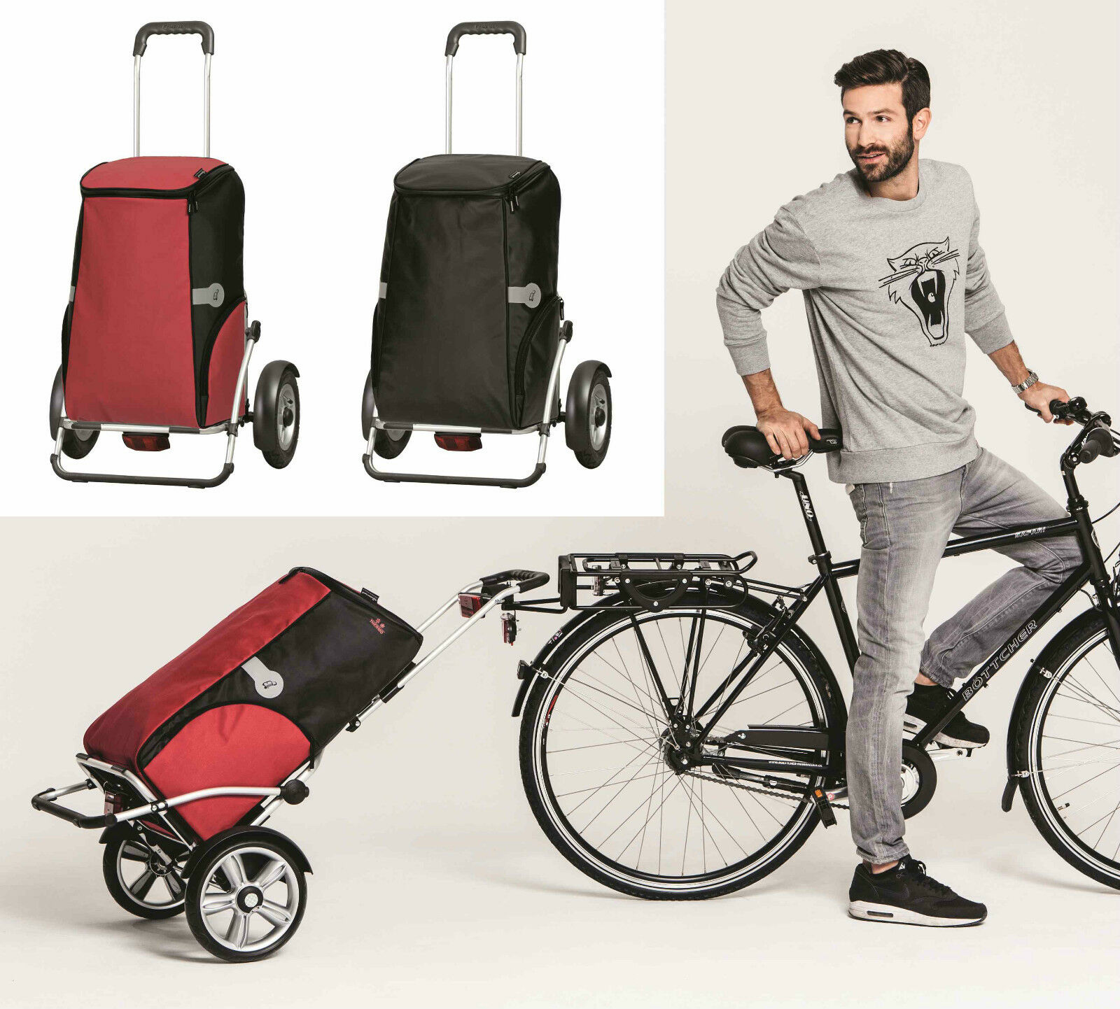 Andersen Royal Shopper plus angelical Alu thermofach remolque de bicicleta compra trolley