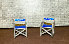 TWO FLAME DESIGN PATIO CHAIRS DIORAMA ACCESSORIES MINIATURE 1/24 (G) SCALE