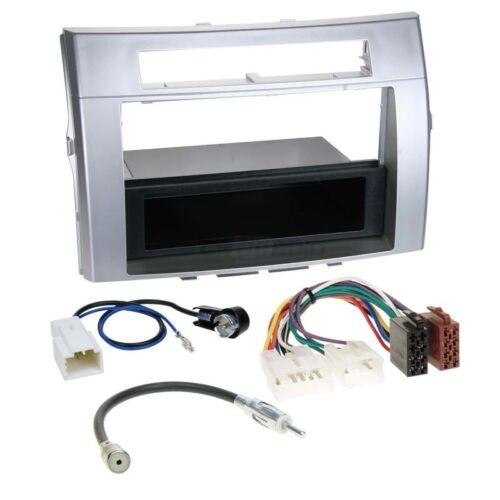 Autorradio kit de integracion 1-din toyota corolla verso 04-09 cable enmarcar plata