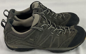 Asolo Mens Agent Evo GV Gore Tex Gray Vibram Hiking Shoes Lace Up Size 10.5