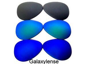 GALAXY-Lenti-di-ricambio-per-OAKLEY-Plaintiff-blue-amp-green-amp-grey-POLARIZZATI