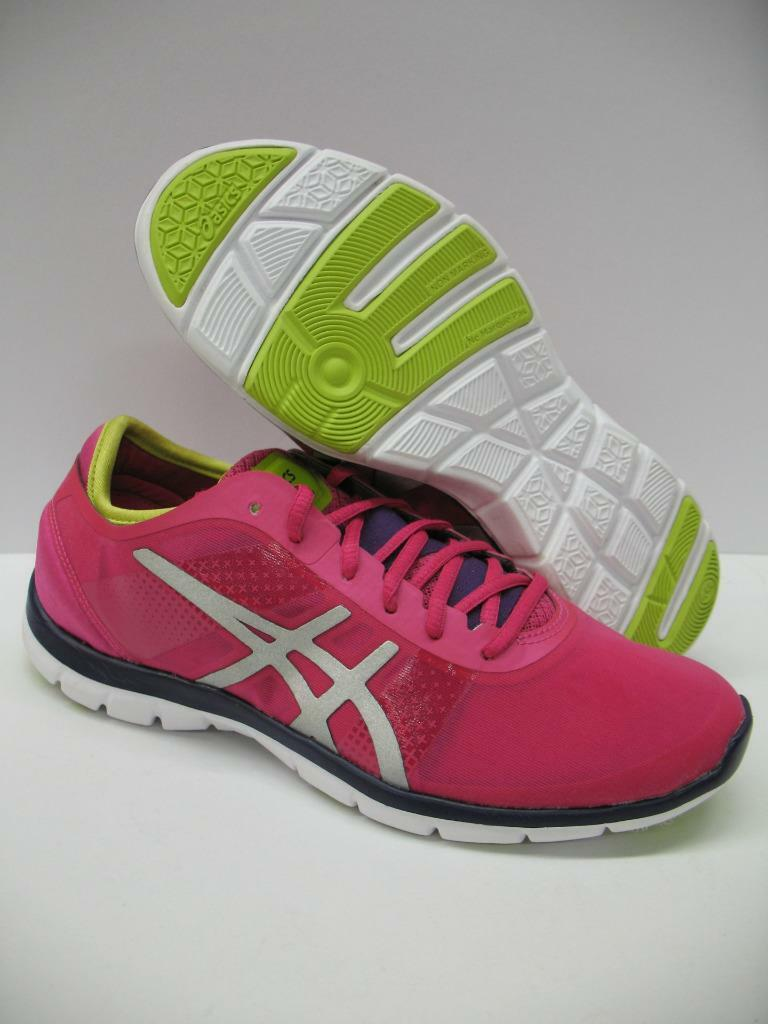 New Asics S466N Gel Fit Nova Running Training Shoes Sneakers Pink Girls Womens 5 Cheap and beautiful fashion