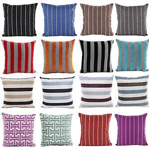 18 multi couleur rayures housse de coussin chenille linge - Canape multi couleur ...
