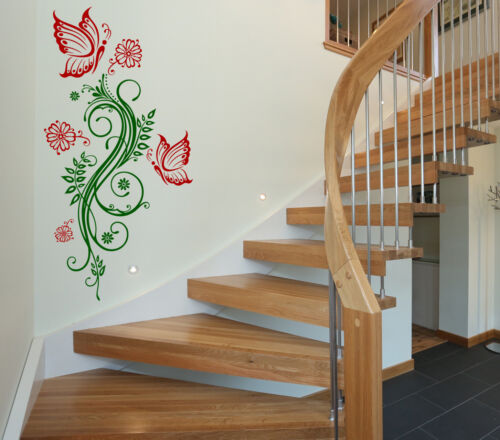 Flower Wall Vinyl Stickers Tattoo Pattern Butterflies And Flowers Decorations D1