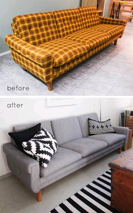 We recover and reupholster old saggy sofas