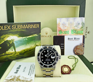 ROLEX-Mens-Vintage-Stainless-Steel-Submariner-Black-Dial-16610-SANT-BLANC