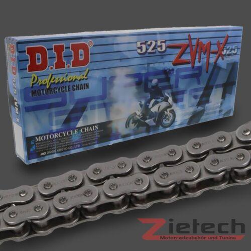 Nietschloss X-Ring 525 ZVMX 104 Glieder Stahlfarben DID Motorrad Kette Offen