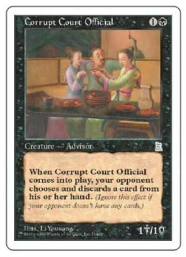 P3K Light Play MTG X1: Corrupt Court Official U