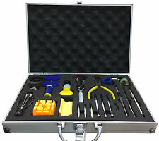 LGI Aluminium Carrying Case Watchmaker DIY Premium Watch Repair Tool Kit 20 pcs