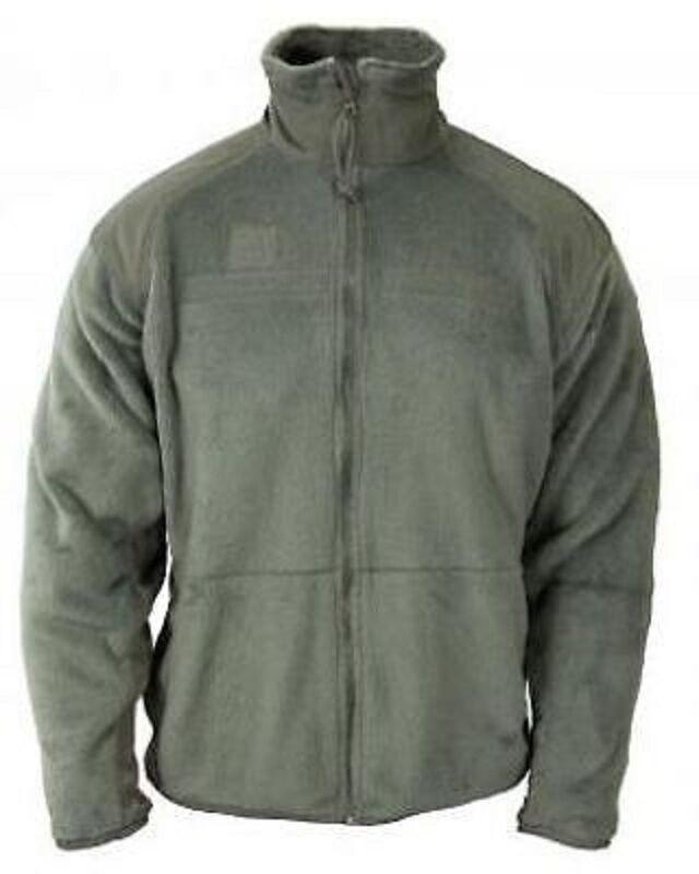 US ARMY ECWCS ACU Polartec Jacke UCP Fleecejacke coat foliage Grün Medium Long
