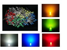 MIX 25 LED DIODI 5mm bianchi blu rossi verdi gialli luce diffusa arduino cs pc