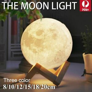Dimmable 3d Moon Lamp Moonlight Usb Led Night Light Magical Touch Sensor Lamp Ebay