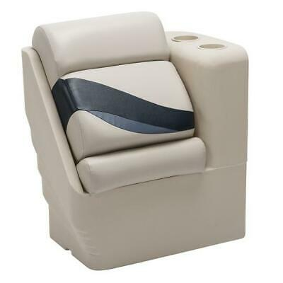 Tan and Beige Premium Left Lean Back Pontoon Seats In Ivory