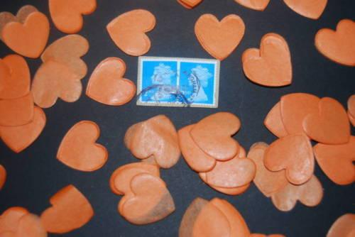arancia-Coriandoli-Love Cuori Bio-degradabili Bio-degradabili Bio-degradabili coni 041943