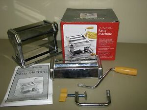 my perfect kitchen pasta machine in box w instructions clamps to rh ebay com